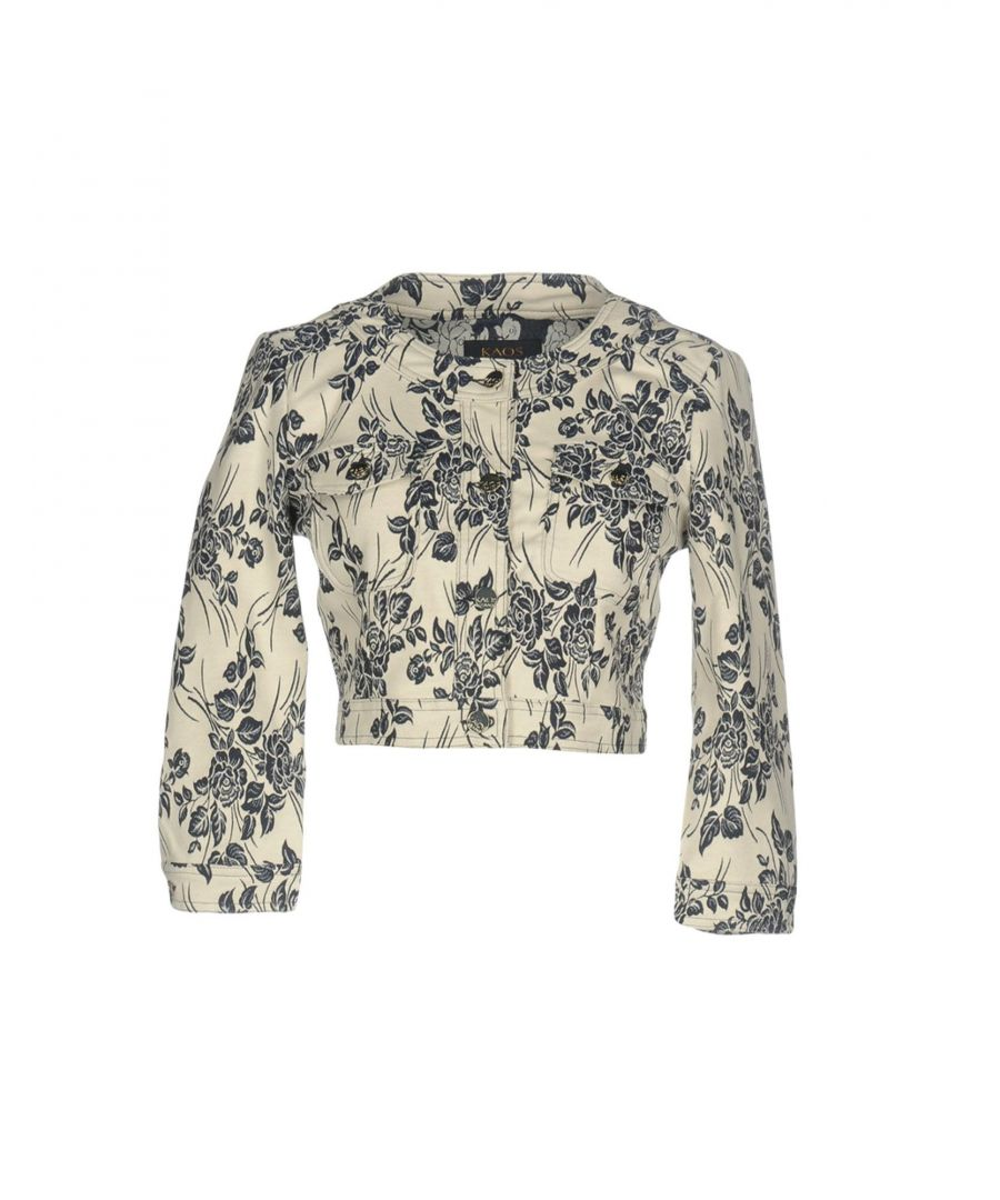 Image for Kaos Jeans Ivory Floral Design Cotton Jacket