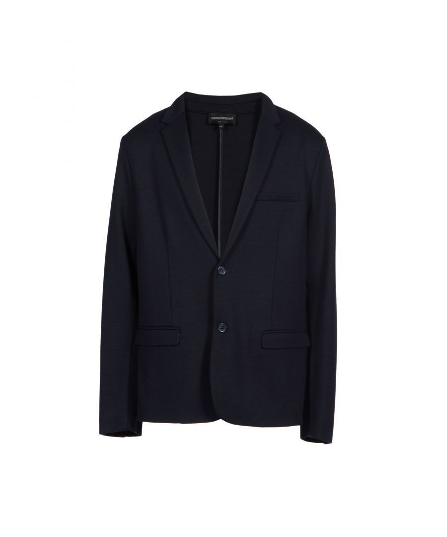 Image for Emporio Armani Dark Blue Wool Jacket