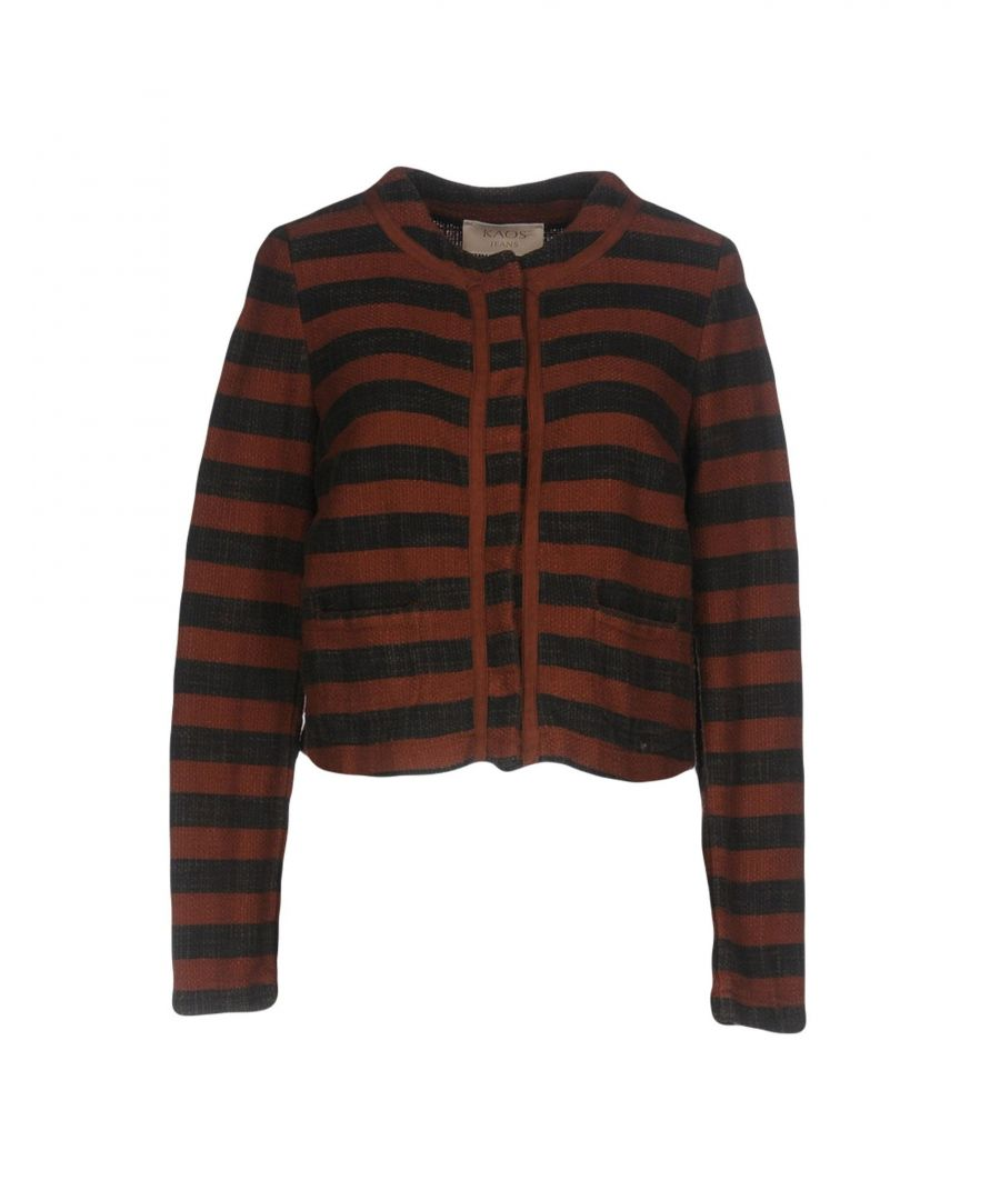 Image for Kaos Jeans Brown Stripe Cotton Jacket