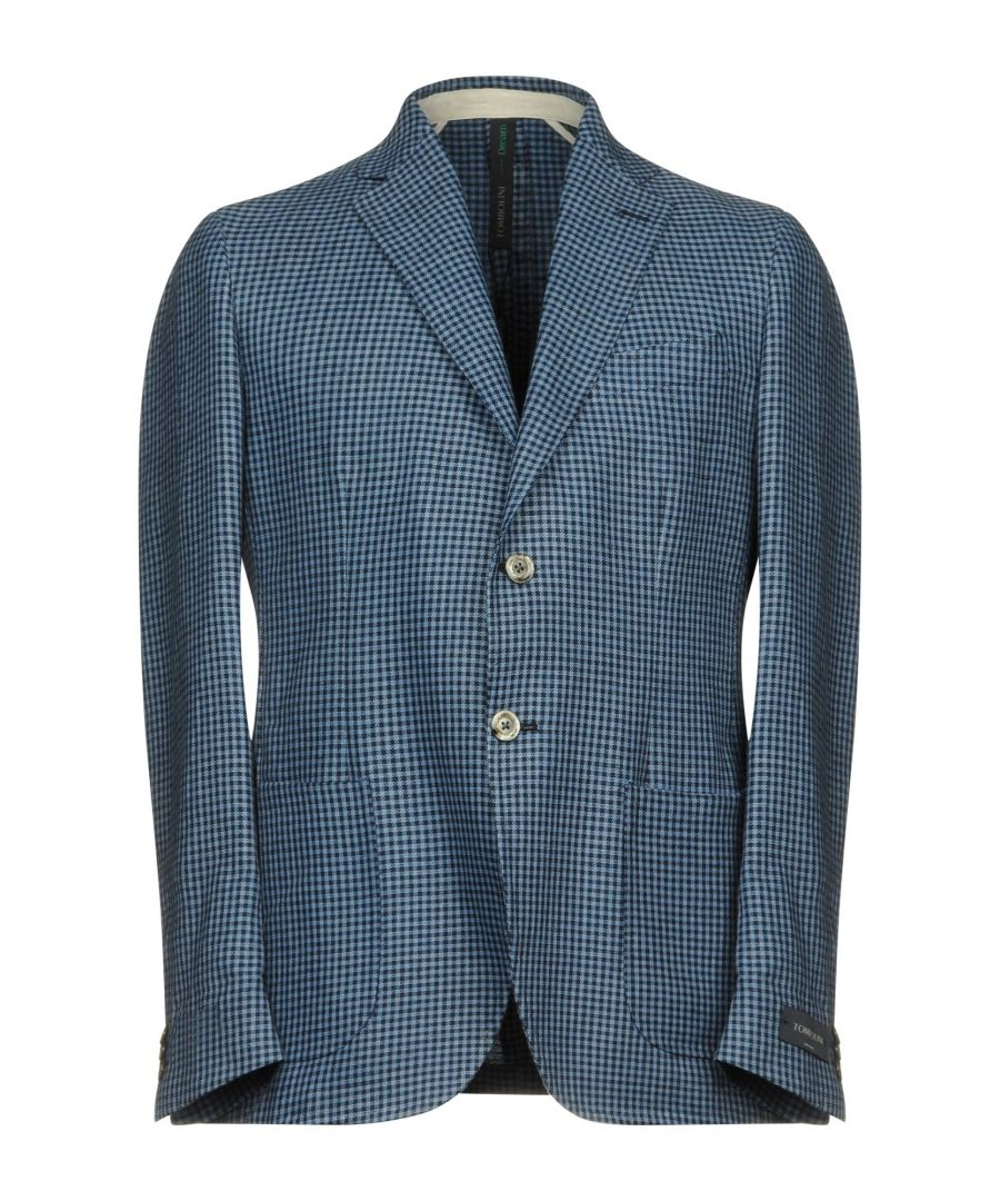 Image for Tombolini Dream Blue Check Cotton Single Breasted Jacket