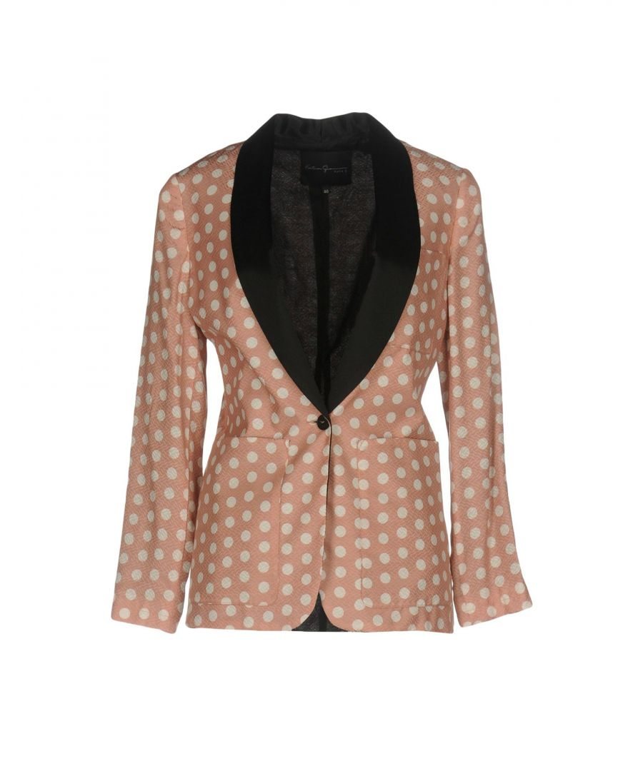 Image for Katia Giannini Pink Polka Dot Single Breasted Jacket