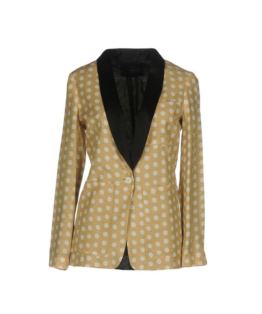 Image for Katia Giannini Sand Jacquard Polka Dot Single Breasted Jacket