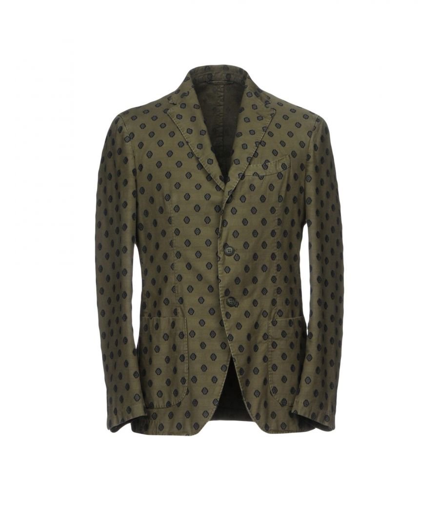 Image for Altea Military Green Embroidered Cotton Single Breasted Jacket