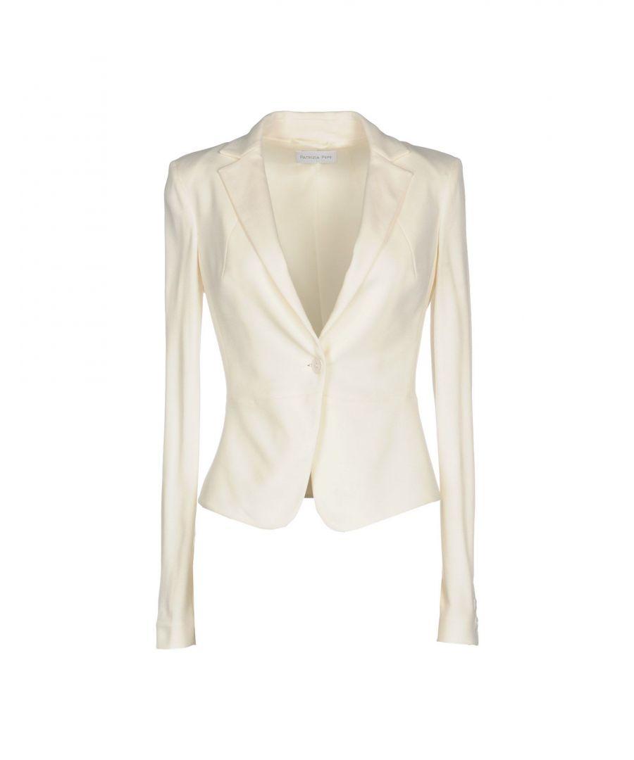 Image for Patrizia Pepe Ivory Single Breasted Blazer