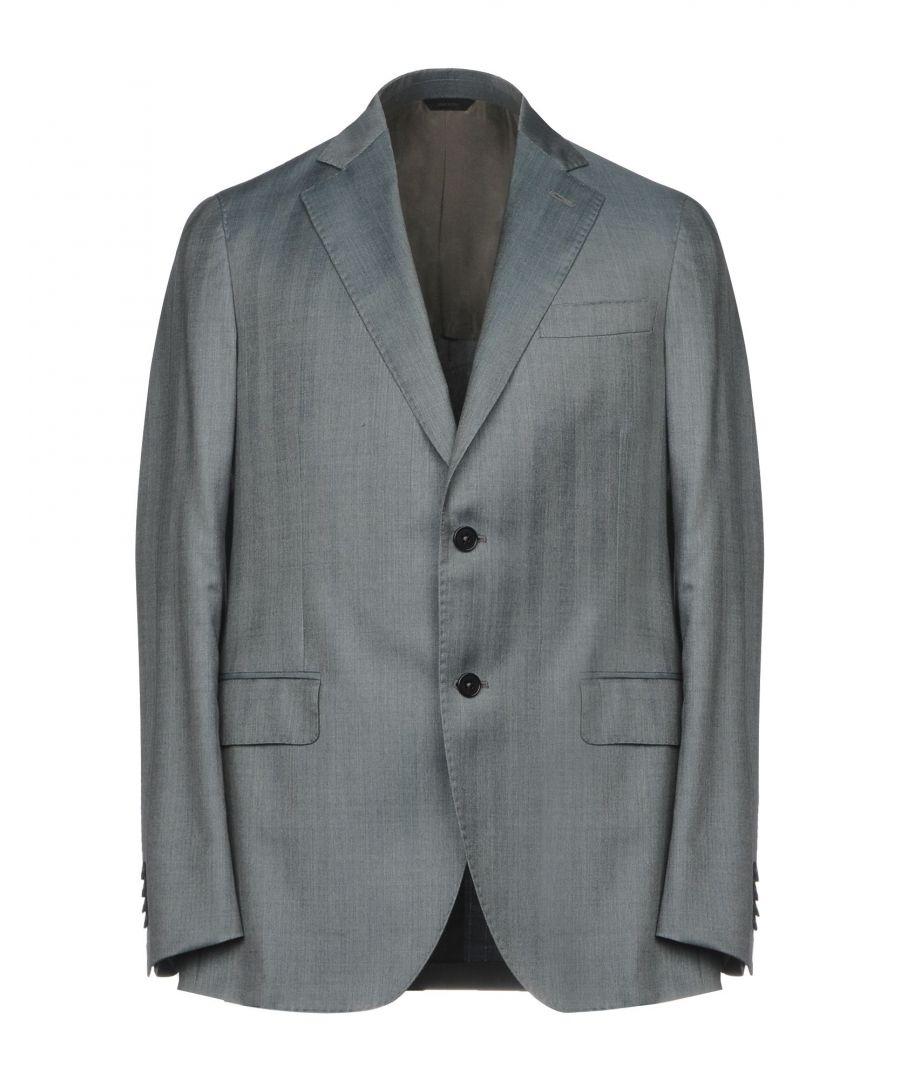 Image for Tombolini Grey Virgin Wool Single Breasted Blazer