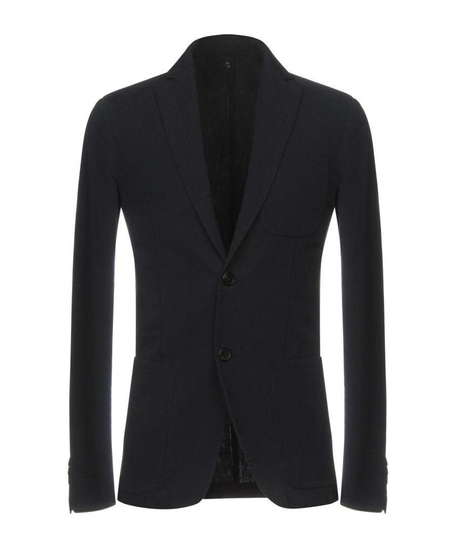 Image for Dondup Dark Blue Cotton Single Breasted Jacket
