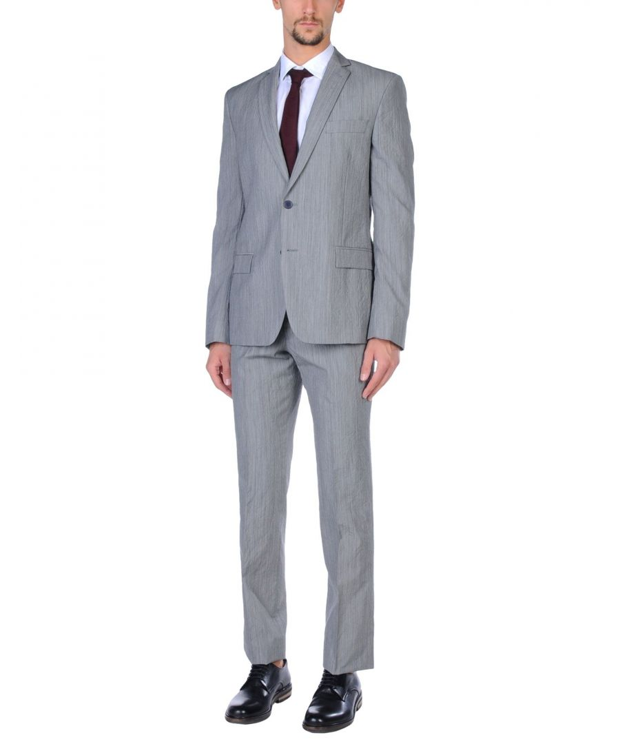 Image for Versace Collection Grey Virgin Wool Single Breasted Suit