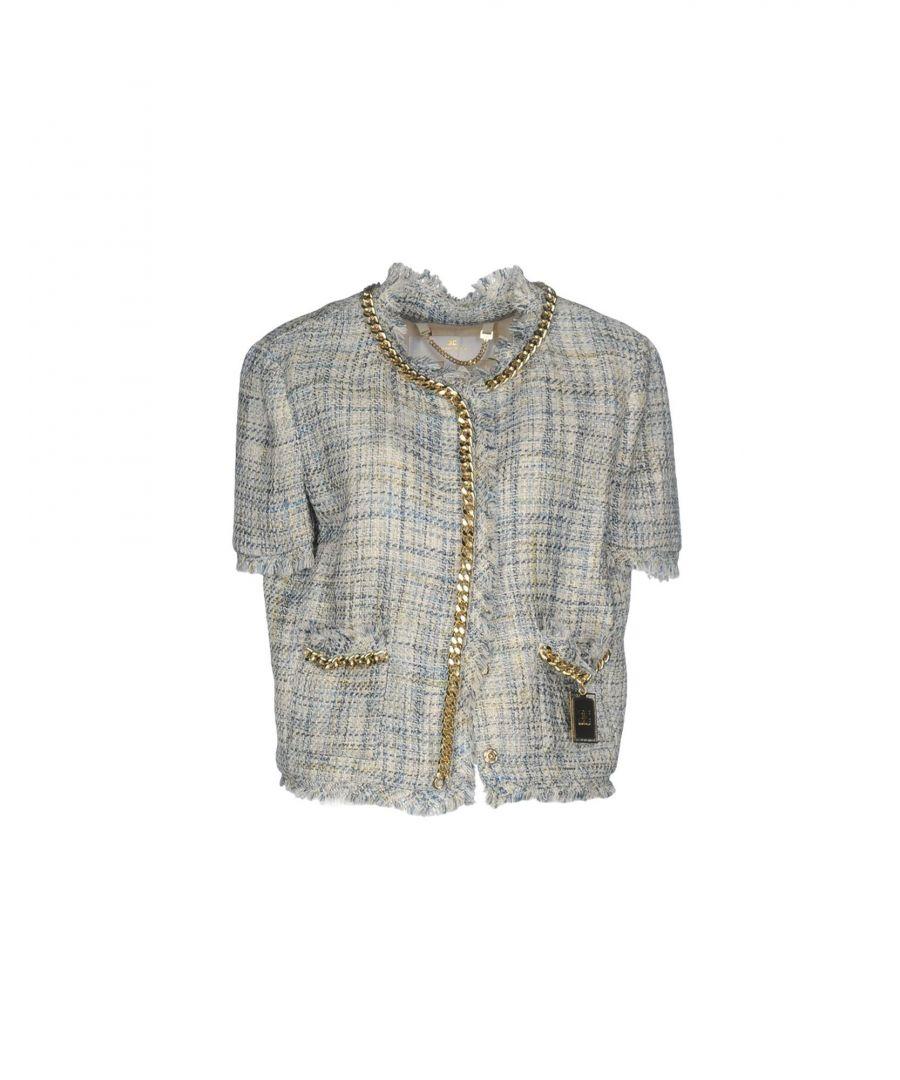 Image for Elisabetta Franchi Gold Sky Blue Cotton Tweed Jacket