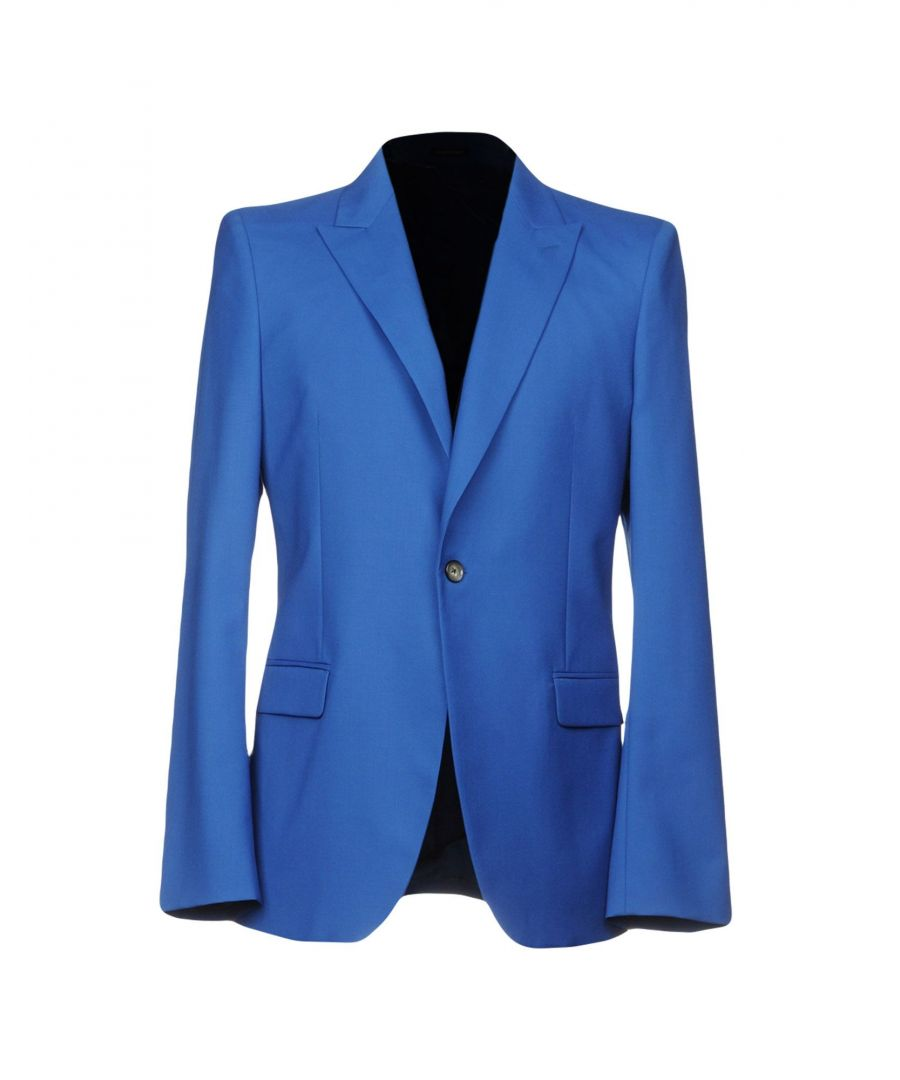 Image for Alexander McQueen Pastel Blue Wool Single Breasted Jacket