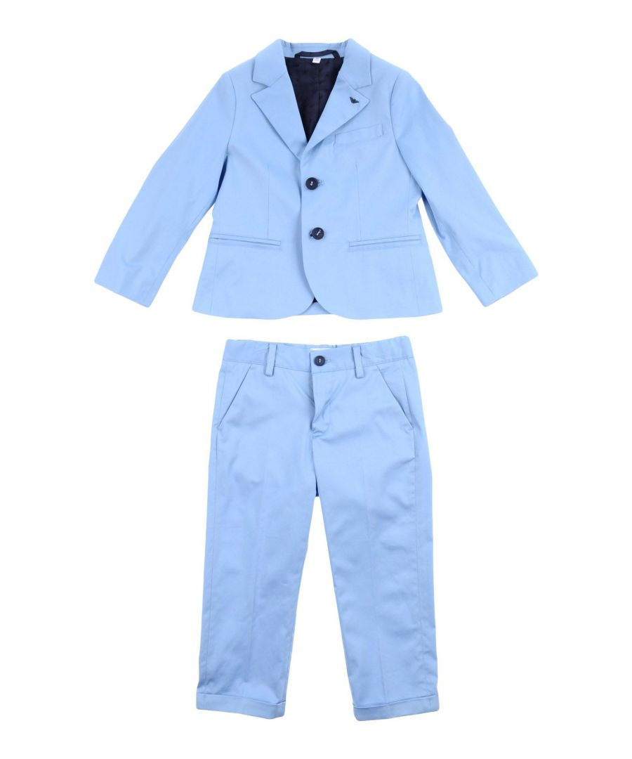 Image for SUITS AND JACKETS Armani Junior Sky blue Man Cotton
