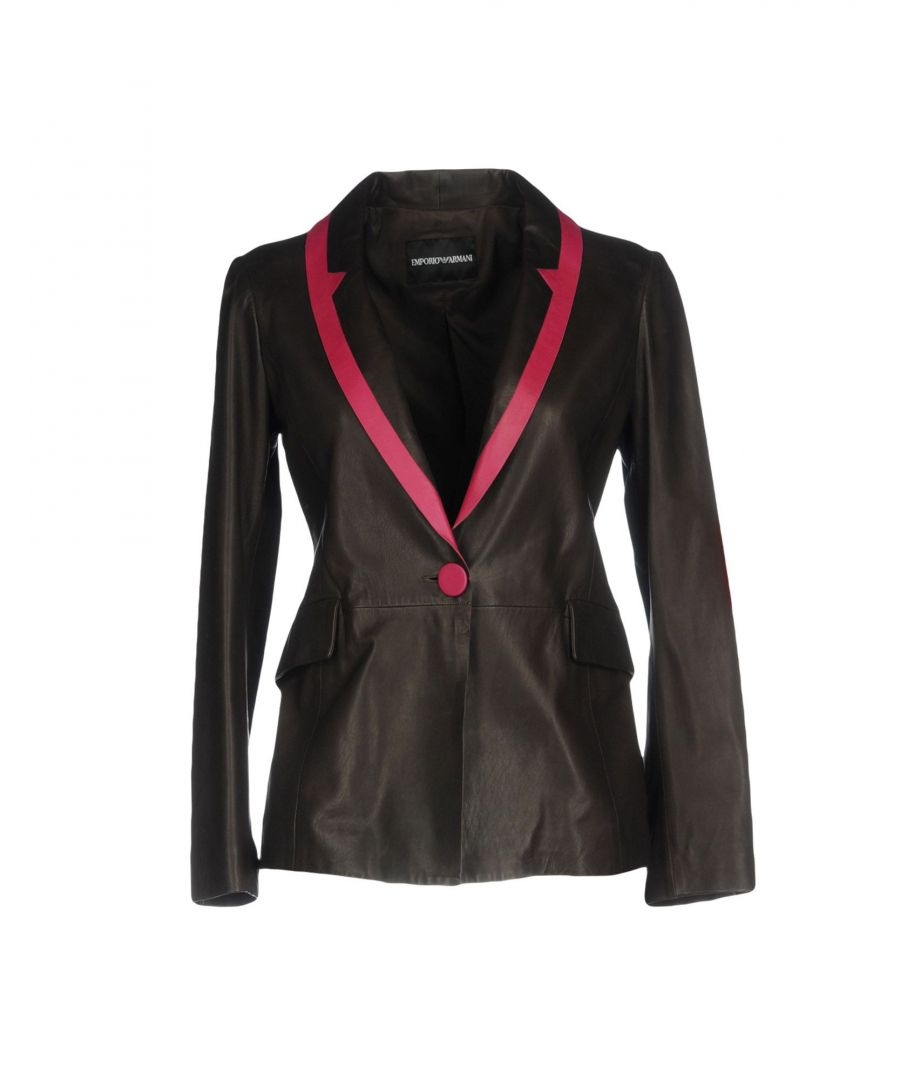 Image for Emporio Armani Dark Brown Leather Jacket