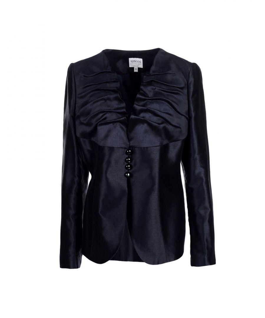 Image for Armani Collezioni Dark Blue Cotton Jacket