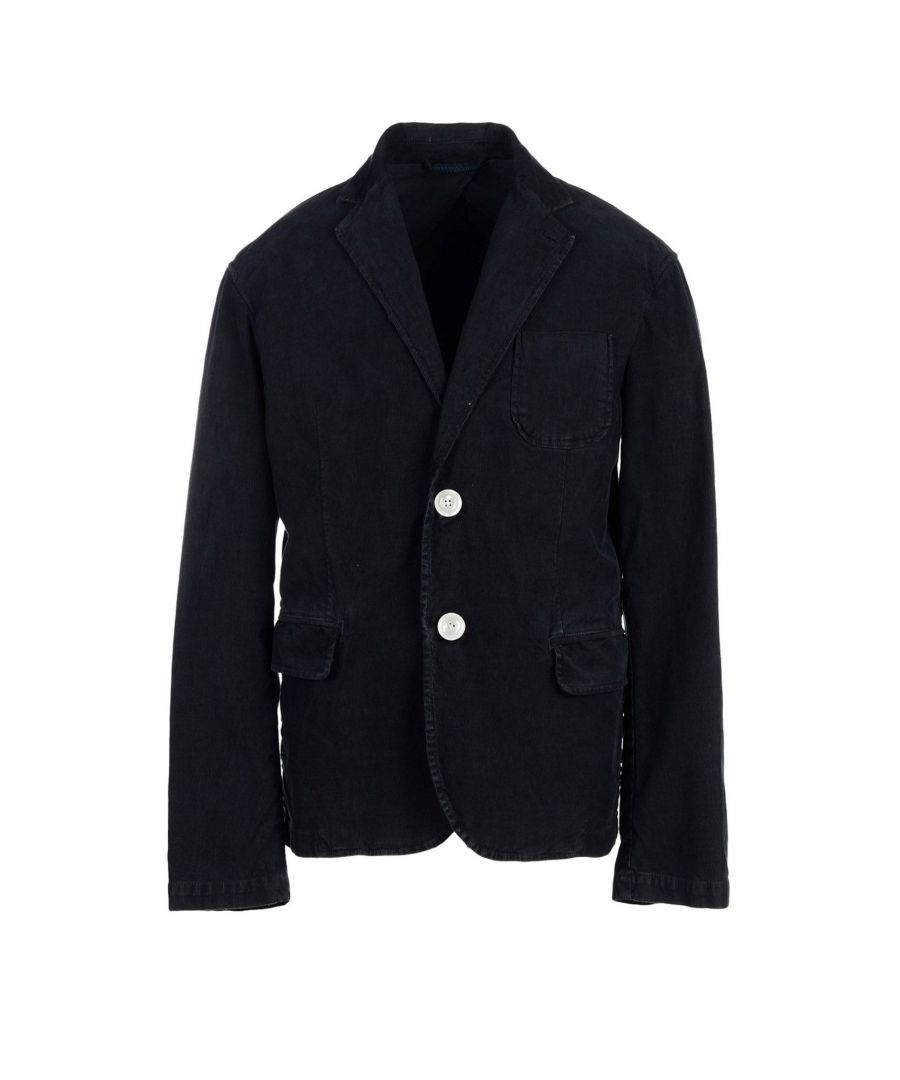 Image for Armani Jeans Dark Blue Cotton Blazer