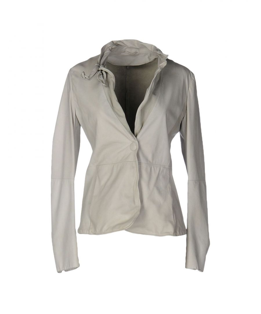 Image for Emporio Armani Grey Leather Jacket