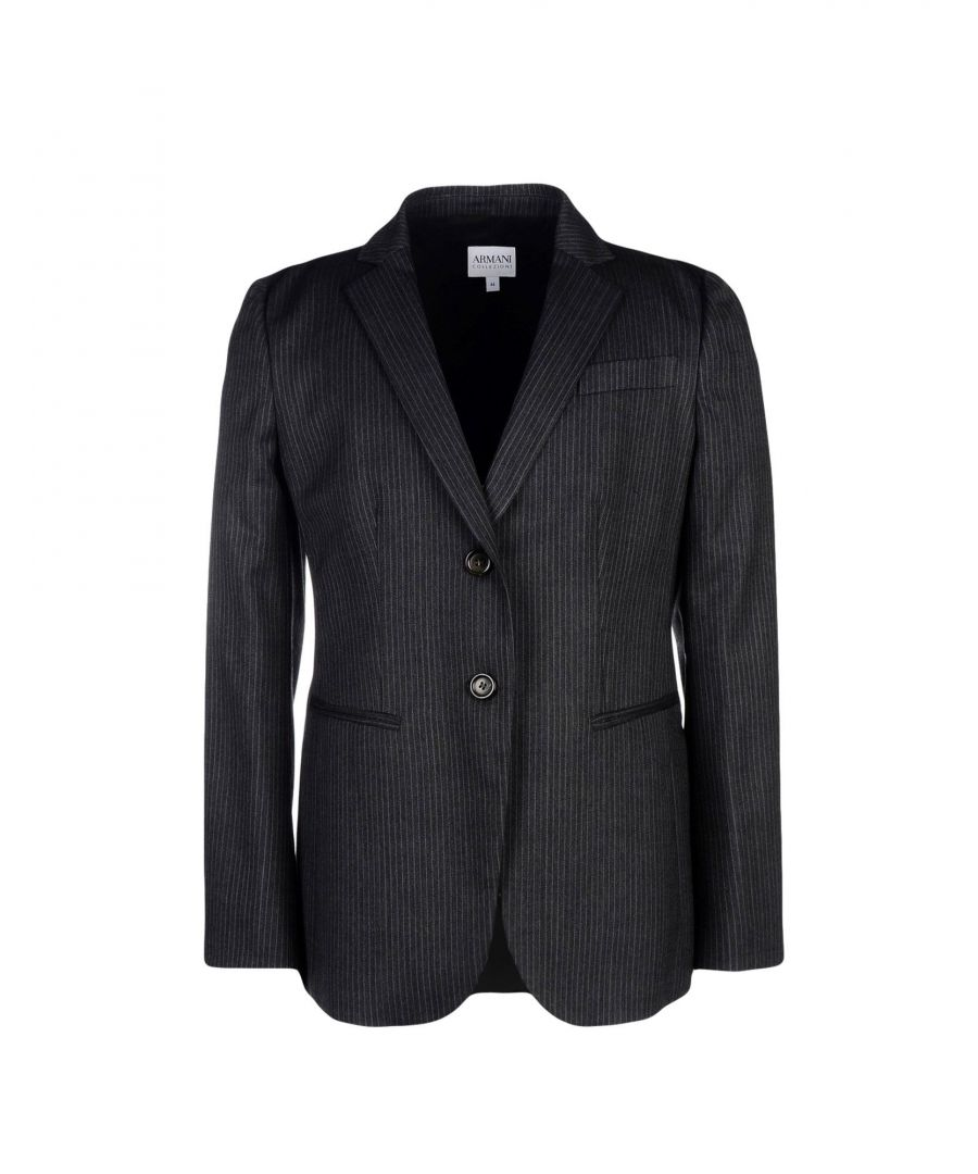 Image for Armani Collezioni Steel Grey Virgin Wool Jacket