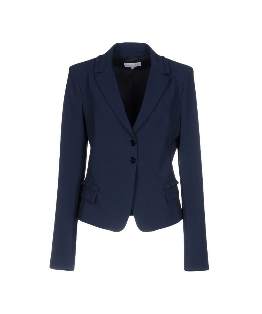 Image for Patrizia Pepe Dark Blue Crepe Single Breasted Blazer