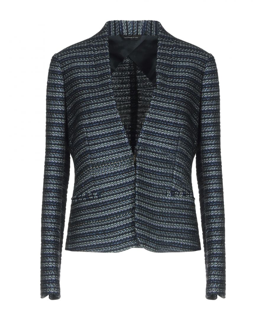 Image for Tonello Dark Blue Tweed Single Breasted Blazer