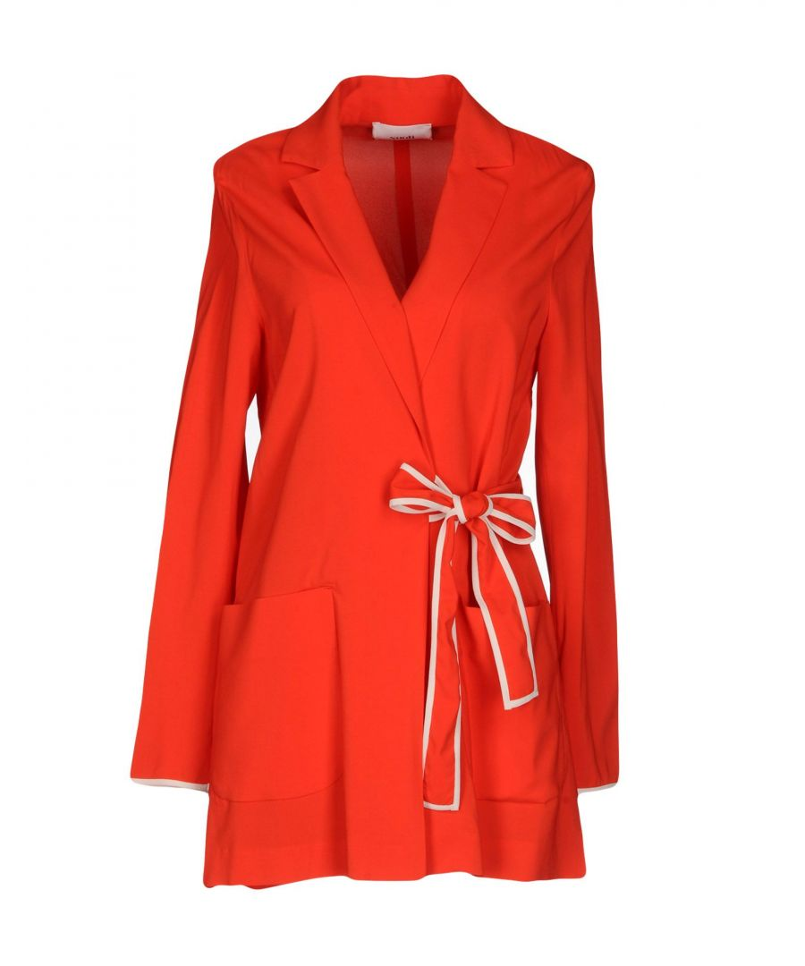 Image for Suoli Red Belted Jacket