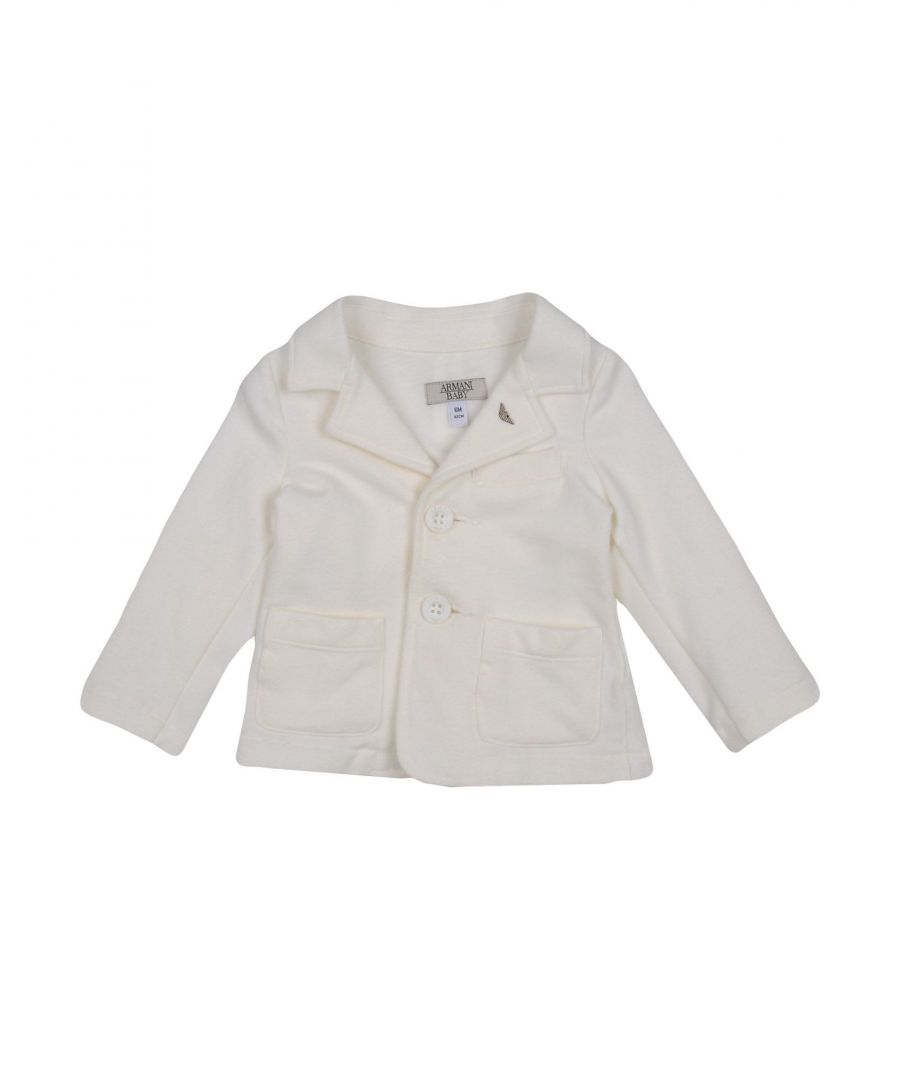 Image for SUITS AND JACKETS Armani Junior White Boy Cotton