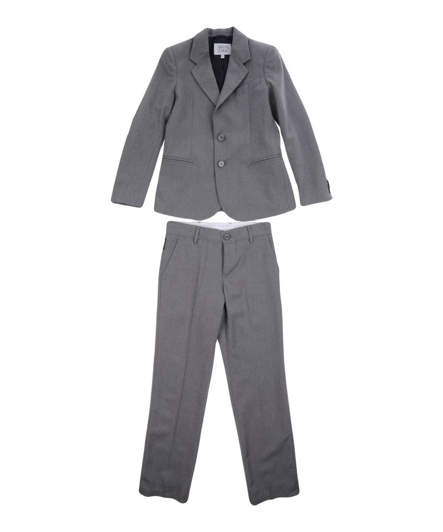 Image for SUITS AND JACKETS Armani Junior Grey Boy Wool