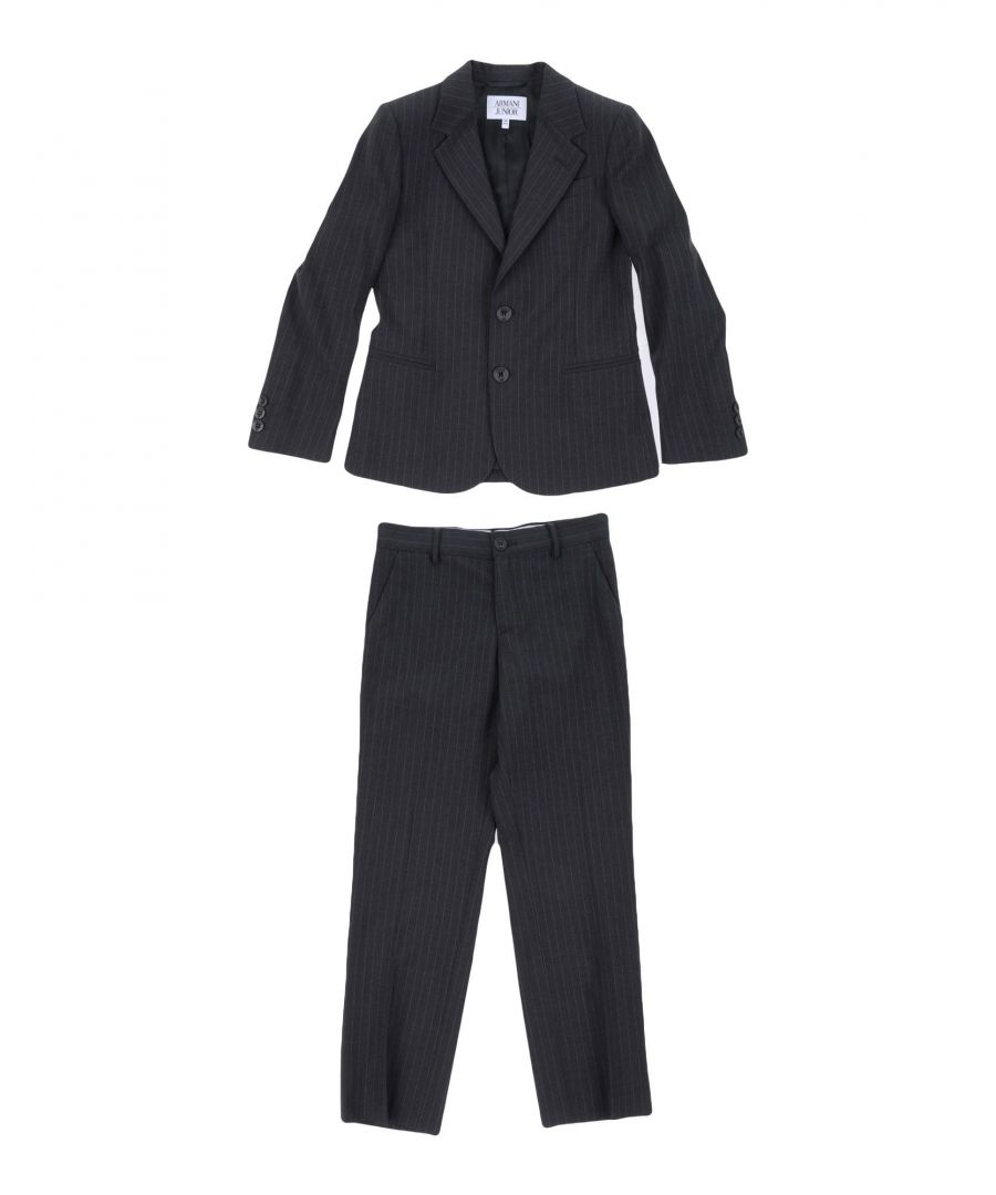 Image for SUITS AND JACKETS Armani Junior Steel grey Boy Virgin Wool