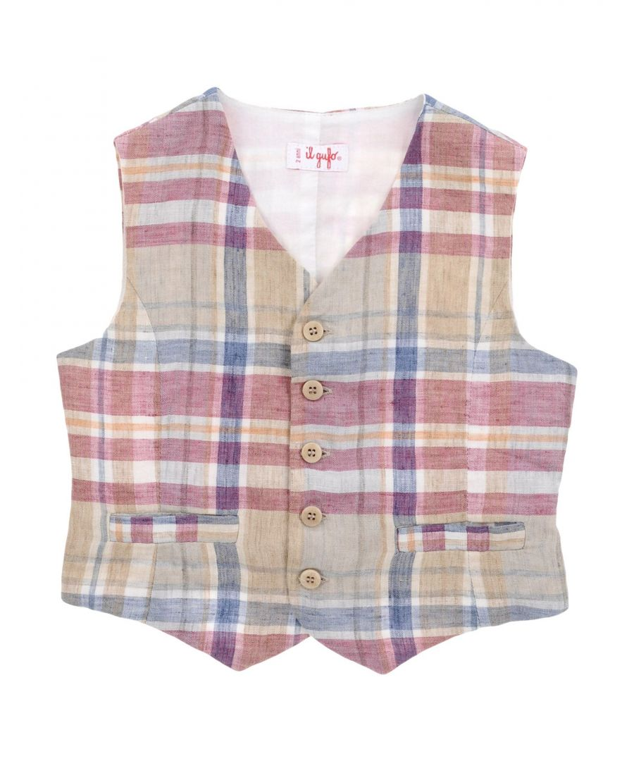 Image for SUITS AND JACKETS Il Gufo Garnet Boy Linen