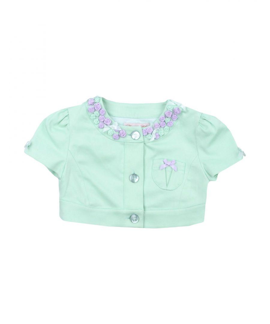 Image for Miss Blumarine Light green Girl Cotton Cardgian