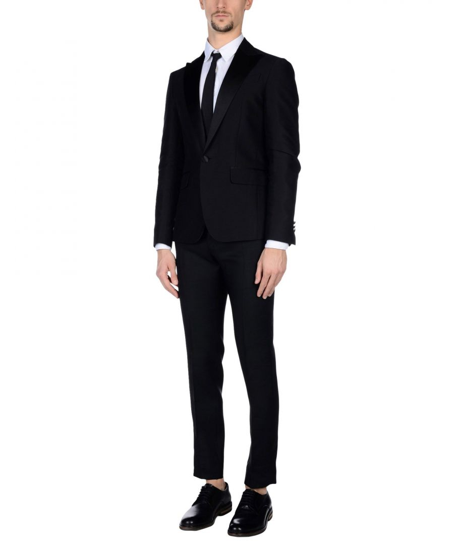 Image for Dsquared2 Black Cotton Single Breasted Suit