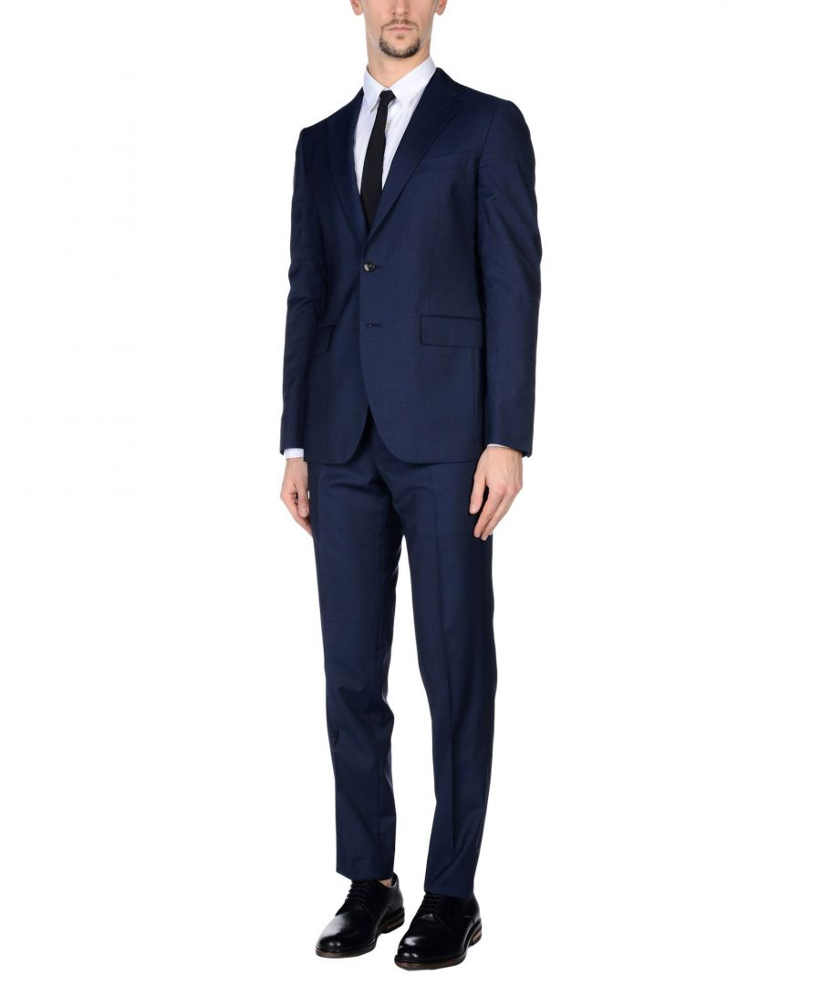 Image for Boglioli Dark Blue Virgin Wool Single Breasted Suit