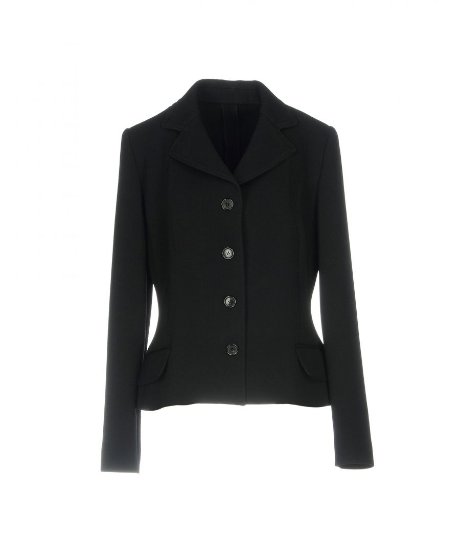 Image for Dolce & Gabbana Black Wool Single Breasted Jacket