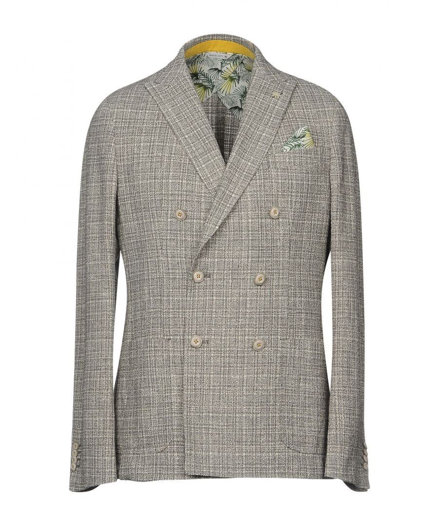 Image for Manuel Ritz Grey Cotton Tweed Double Breasted Jacket