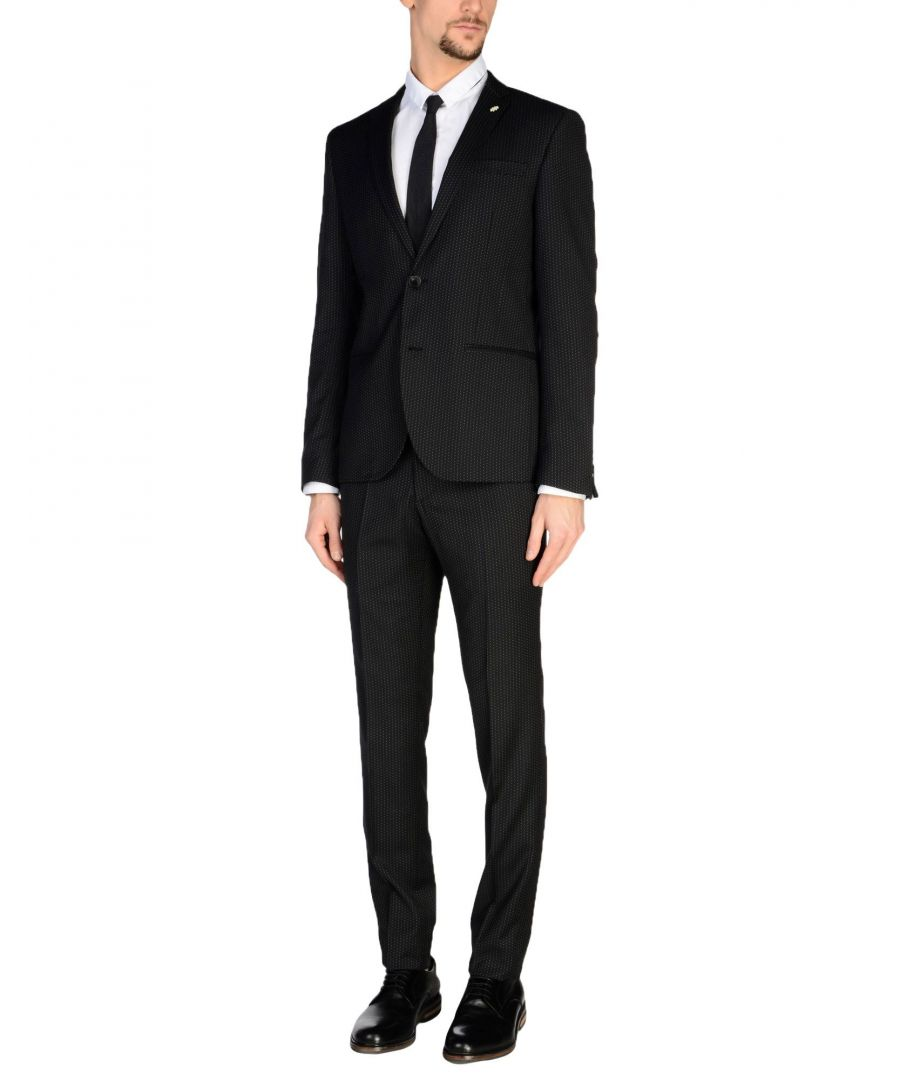 Image for Manuel Ritz Black Single Breasted Suit