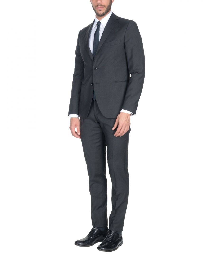 Image for Cantarelli Steel Grey Virgin Wool Single Breasted Suit
