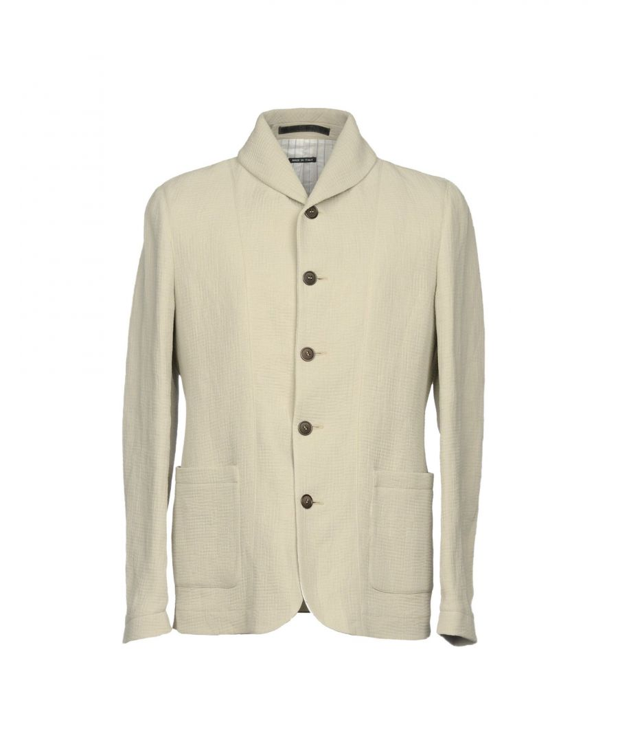 Image for Giorgio Armani Light Grey Crepe And Leather Detail Jacket