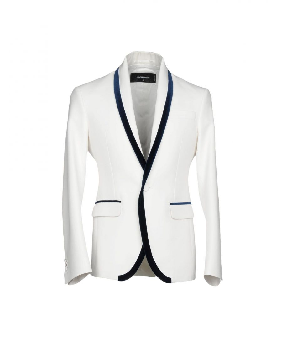 Image for Dsquared2 White Cotton Single Breasted Jacket