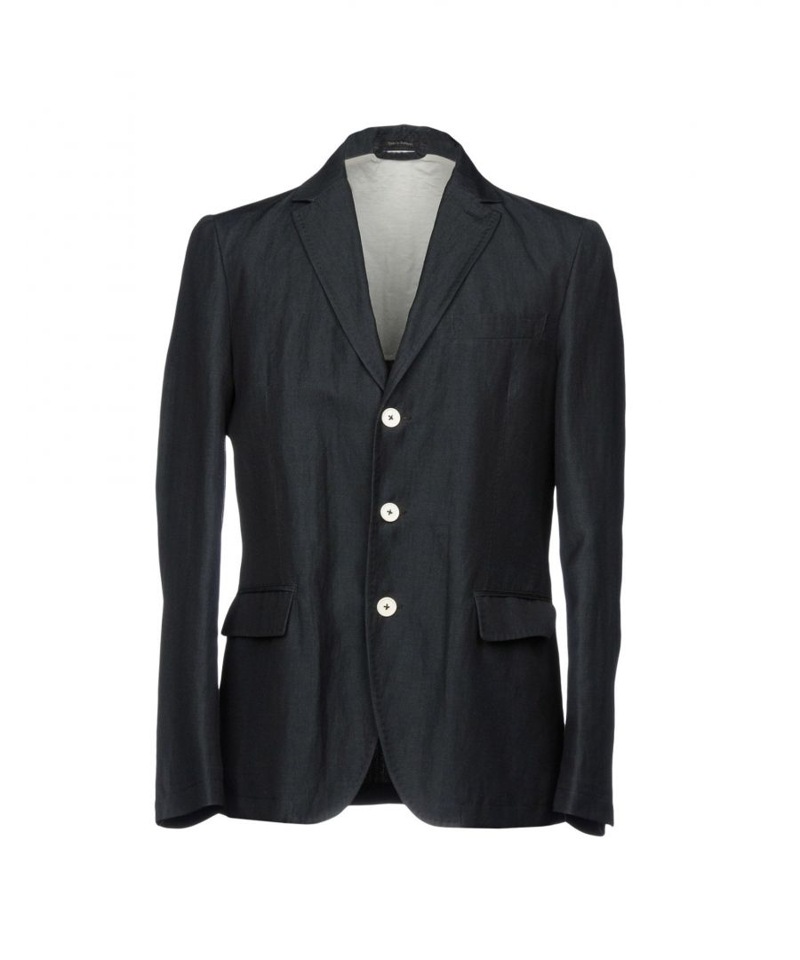 Image for Zzegna Steel Grey Cotton Single Breasted Jacket