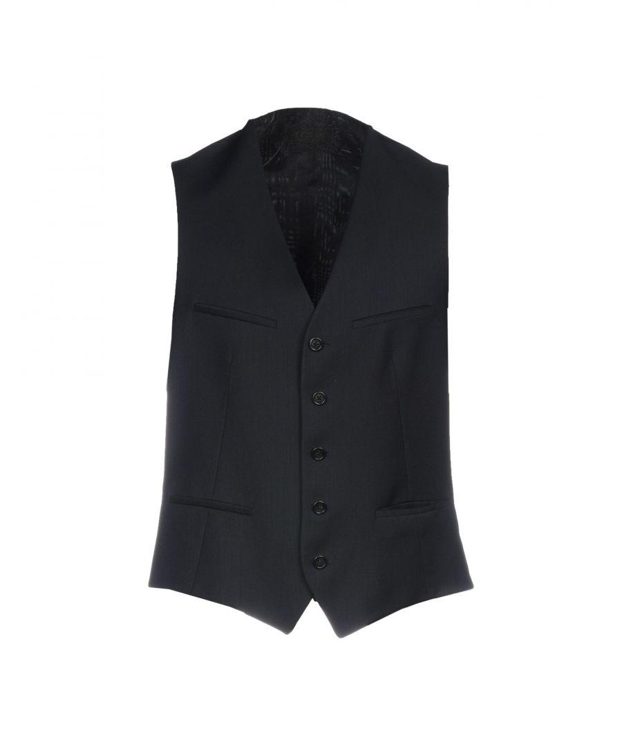 Image for Zzegna Dark Blue Wool Waistcoat
