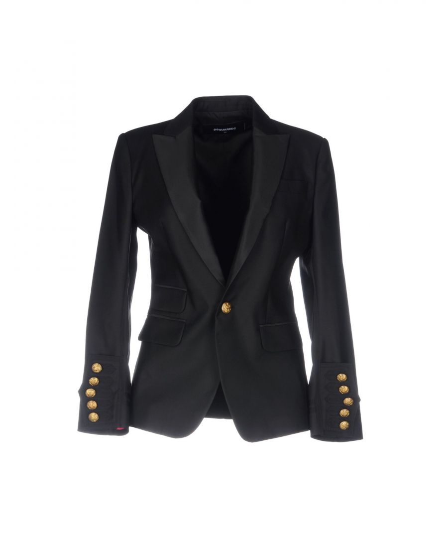 Image for Dsquared2 Black Virgin Wool Single Breasted Jacket