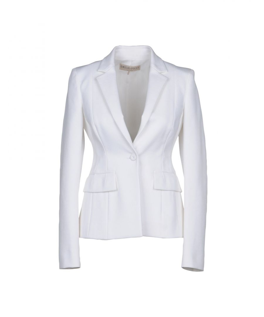Image for Emilio Pucci White Cotton Single Breasted Jacket