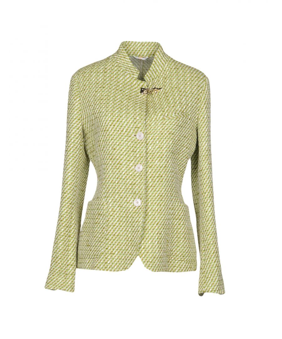 Image for Fay Light Green Cotton Single Breasted Jacket