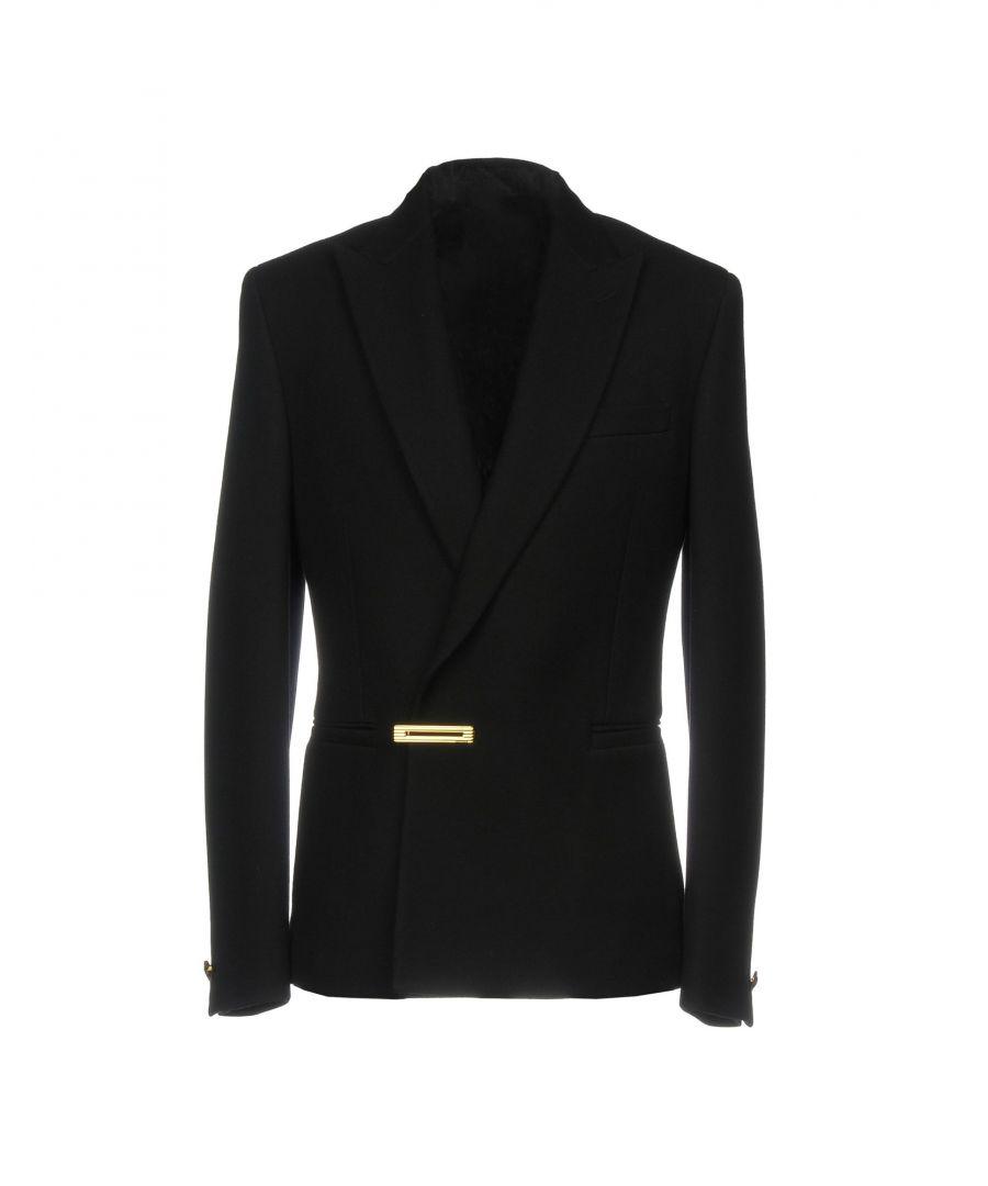 Image for Versace Black Virgin Wool Single Breasted Jacket