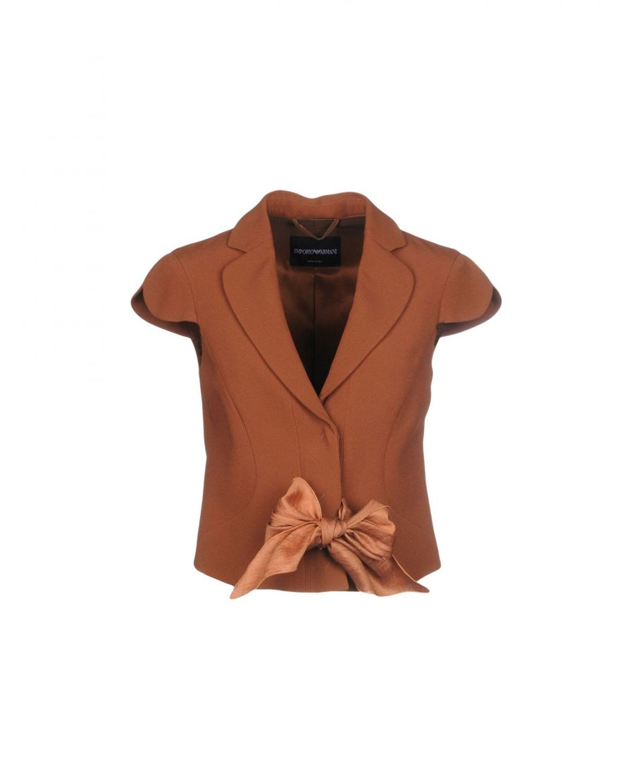 Image for Emporio Armani Brown Short Sleeve Jacket With Bow Detail