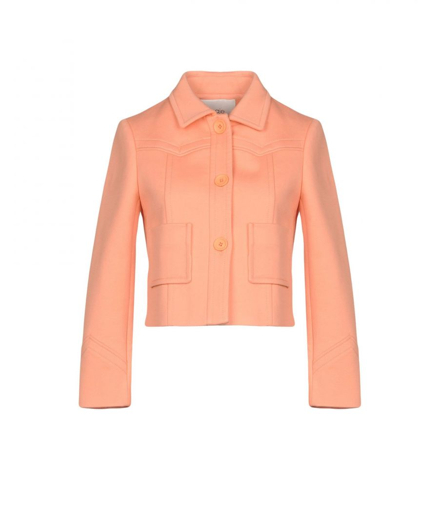 Image for SUITS AND JACKETS Maje Salmon pink Woman Cotton