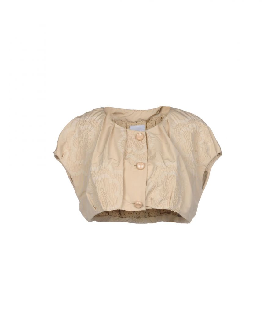 Image for Moschino Cheap And Chic Beige Cropped Short Sleeve Jacket