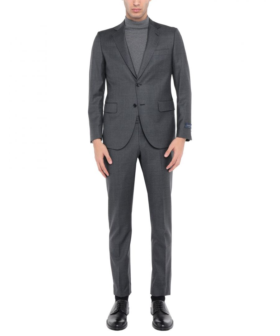 Image for Tombolini Lead Virgin Wool Single Breasted Suit
