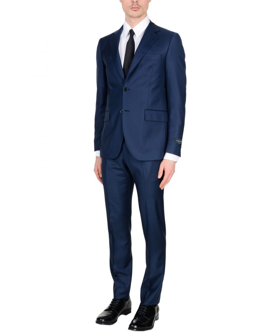 Image for Tombolini Blue Virgin Wool Suit