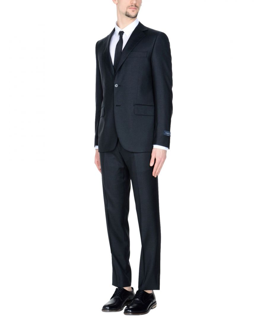 Image for Tombolini Steel Grey Virgin Wool Single Breasted Suit