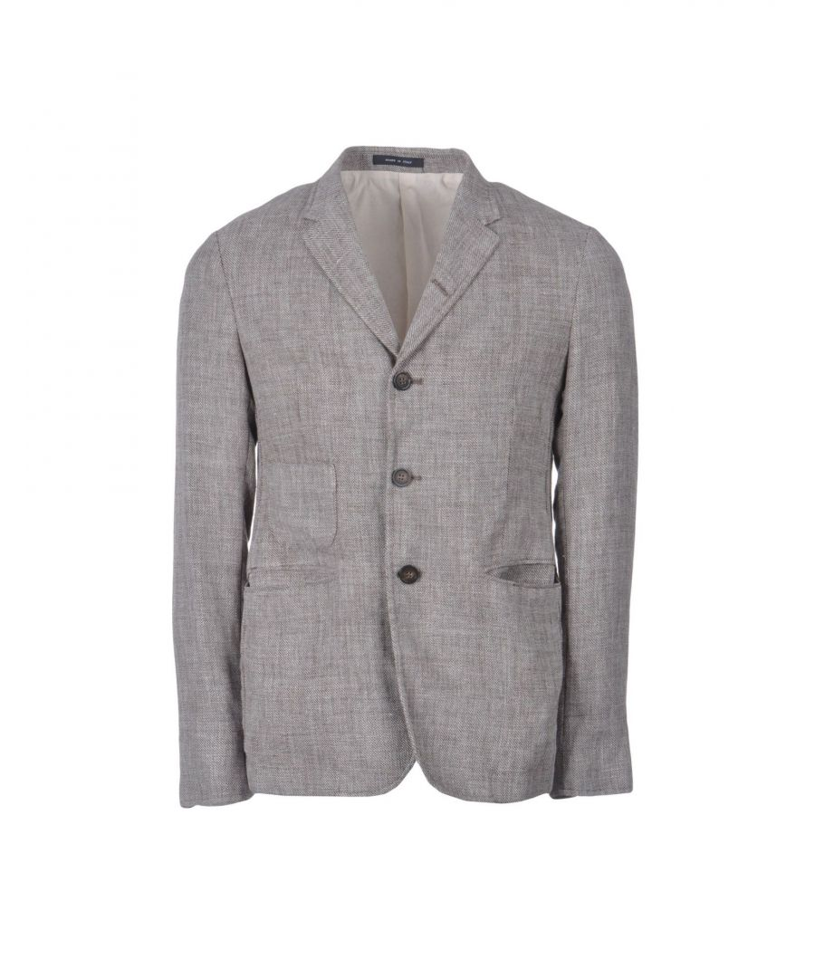 Image for Emporio Armani Dark Brown Linen Jacket