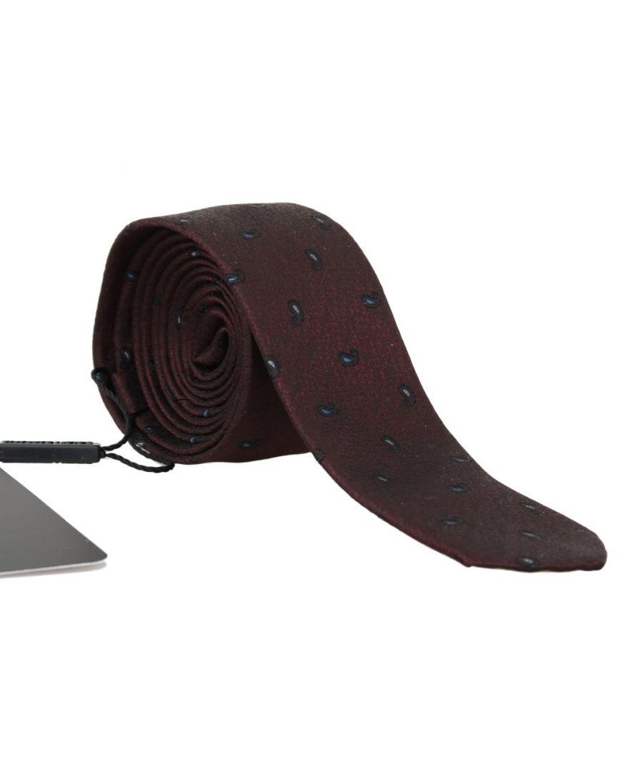 Image for Dolce & Gabbana Bordeaux 100% Silk Pattern Slim Tie