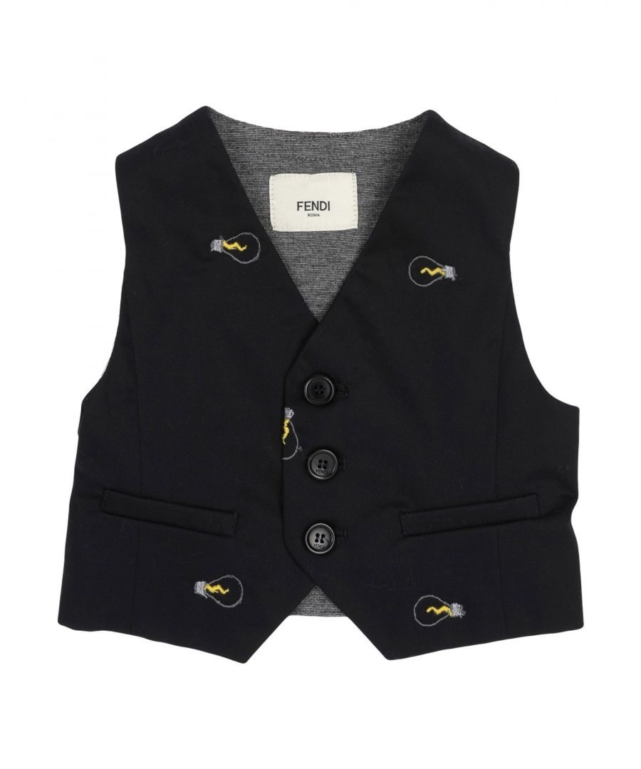 Image for SUITS AND JACKETS Fendi Black Boy Cotton